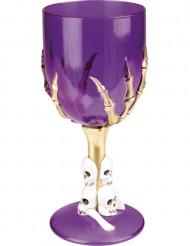 Bicchiere di colore viola per Halloween
