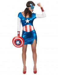 Costume da sexy Capitan Girl per donna