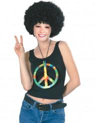 Collana gigante hippie arcobaleno