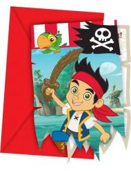 6 inviti per festa di compleanno di Jake e i Pirati™