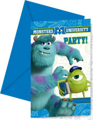6 biglietti di invito con busta Monster University™