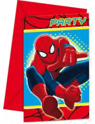 Confezione di 6 inviti con stampa Spiderman™