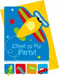 6 inviti di compleanno piccoli aerei