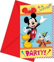Confezione da 6 cartoncini invito Topolino Party Carnival™