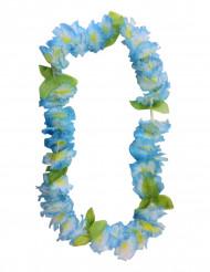 Collana hawaiana di fiori celesti
