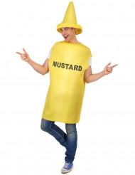 Costume adulti da barattolo di mostarda