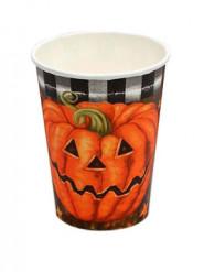 Set da 6 bicchieri con stampa zucca di Halloween