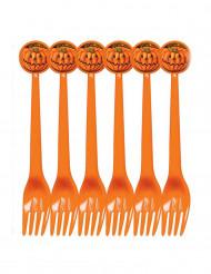 Confezione da 6 forchette decorate per Halloween