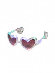 Occhiali trasparenti a cuore con led