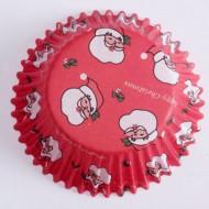 60 pirottini cupcakes con Babbo Natale