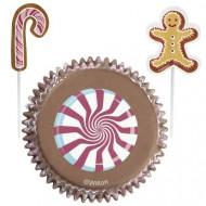 24 pirottini e pics natalizi per cupcakes