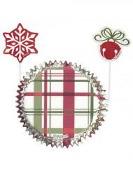 Set pirottini a quadri e pics natalizi