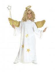 Costume da angelo con stelle oro bambino