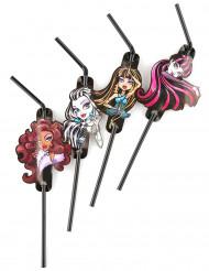 Confezione 8 cannucce ufficiali Monster High™