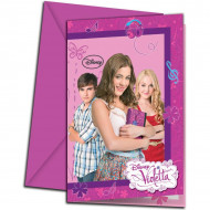 6 Inviti con busta viola di Violetta™