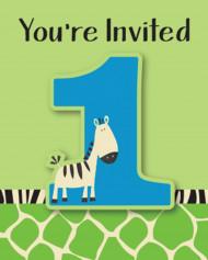 8 inviti di compleanno a tema zebra
