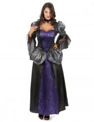 Costume da vampira nero e viola per donna
