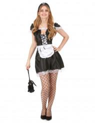 Costume da cameriera sexy nero e bianco per donna