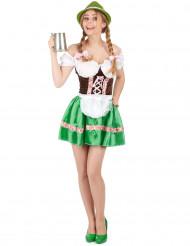 Costume bavarese verde da donna