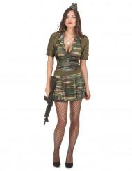 Costume da soldatessa per adulti