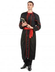 Costume nero da vescovo per adulto