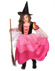 Vestito streghetta rosa bambina