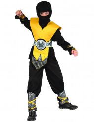 Costume da ninja nero e giallo bambino