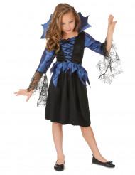 Costume con ragnatela nera e blu bimba