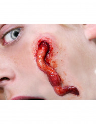 Cicatrici finte per viso con larva