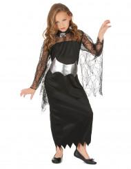 Costume con ragnatela nera e argento bimba