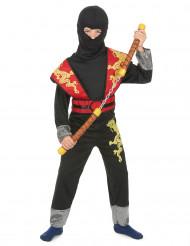 Costume da ninja giallo e rosso per bambino