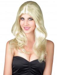 Parrucca bionda e ondulata da donna