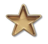 Piatto a forma di stella dorata