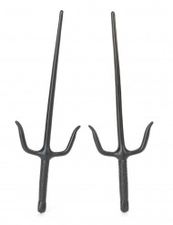 2 finti coltelli ninja in plastica