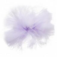 Ponpon in tulle lilla da appendere 30 cm