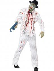 Costume da zombie-gangster da uomo Halloween