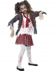 Costume da studentessa zombie bambina Halloween
