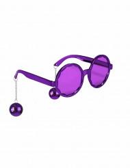 Occhiali disco viola per adulto
