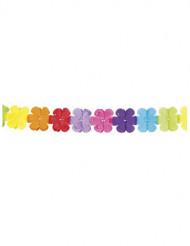 Ghirlanda in carta con fiori di mille colori da 4 metri