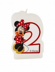 Candelina torta di compleanno Minnie™ con numero 2