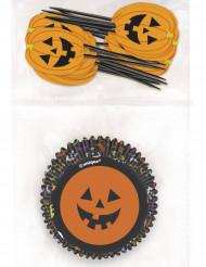 24 pirottini per cupcakes con bastoncini Halloween