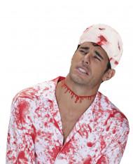 Benda insanguinata per Halloween colore bianco