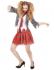 Costume studentessa zombie da donna Halloween