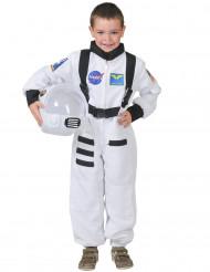 Travestimento bianco astronauta bambino