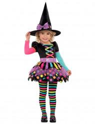 Costume da strega colorata per bambina halloween