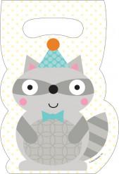 8 sacchetti per festa Animali del bosco Bambino