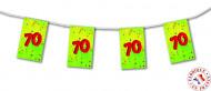 Ghirlanda di carta festa di 70 anni
