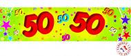 Banner di carta per i 50 anni