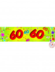 Banner in carta colorata 60 anni