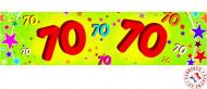 Banner di carta giallo e verde 70 anni
